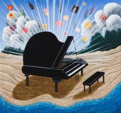 """Piano on the Beach"" by Scott Kahn, circle of Matthew Wong, Theodoros Stamos"