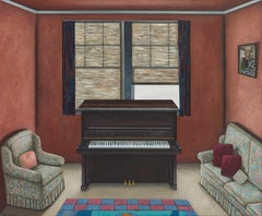 """Sitting Room"" by Scott Kahn, circle of Matthew Wong, Theodoros Stamos"