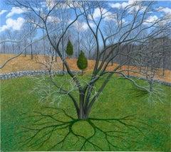 """Early Spring"" by Scott Kahn, circle of Matthew Wong, Theodoros Stamos"
