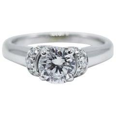 Scott Kay 14 Karat White Gold Ring Semi Mount 0.27 Carat Radiance Collection