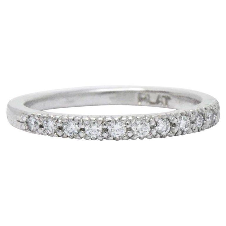 Scott Kay Platinum Diamond Wedding Band Ring: Scott Kay .25 CTW Diamond And Platinum Wedding Band