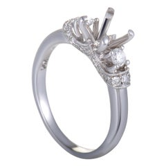 Scott Kay, .38 Carat 14 Karat White Gold Diamond Engagement Ring Mounting