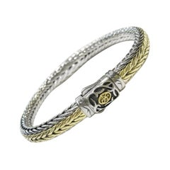 Scott Kay Chevron Woven Silver and Gold Bracelet