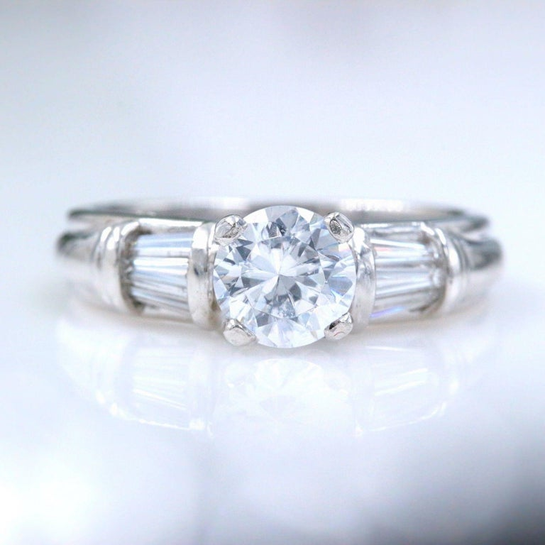 Scott Kay Platinum Diamond Wedding Band Ring: Scott Kay Diamond Engagement Ring Semi Mount Tapered