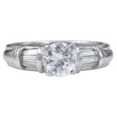Scott Kay Diamond Engagement Ring Semi Mount Tapered Baguettes 0.28tcw Platinum