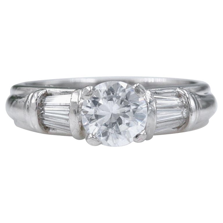 Scott Kay Diamond Engagement Ring Semi Mount Tapered Baguettes 028tcw Platinum