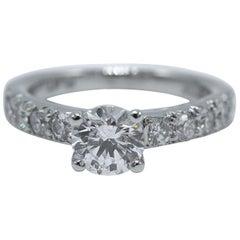 Scott Kay Engagement Ring Semi Mount with Accent Diamonds 0.52 Carat in Platinum