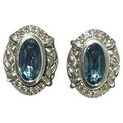 Scott Kay London Blue Topaz Ladies Earring E1467SLB