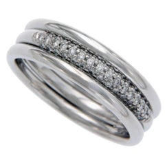 Scott Kay Men's/Women's Platinum Pave Diamond Band Ring