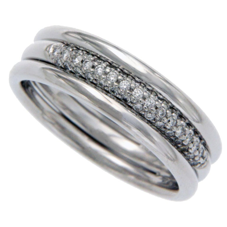 52937a83bf06b Scott Kay Men's/Women's Platinum Pave Diamond Band Ring For Sale at ...