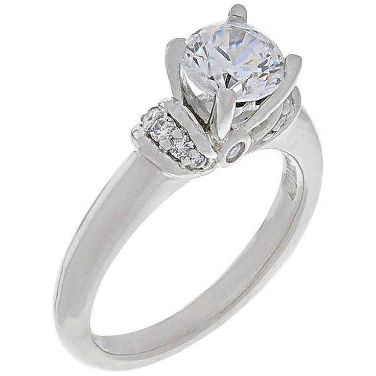 Scott Kay Platinum Diamond Wedding Band Ring: Scott Kay Platinum Diamond Engagement Ring For Sale At 1stdibs