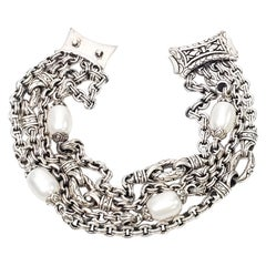 Scott Kay Rolo Chain Multi-Strand Pearl Bracelet