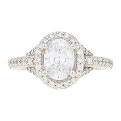 Scott Kay Semi-Mount Halo Ring 14 Karat Gold for Oval Diamonds .62 Carat