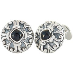 Scott Kay Sterling Silver Circle Cufflinks