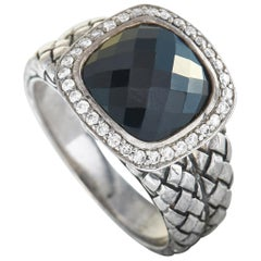 Scott Kay Sterling Silver Diamond and Onyx Ring