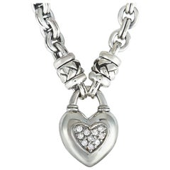 Scott Kay Sterling Silver Heart Pendant Necklace