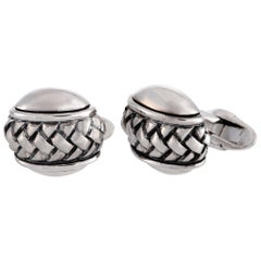 Scott Kay Sterling Silver Oval Cufflinks