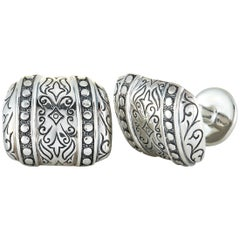 Scott Kay Sterling Silver Rectangle Cufflinks