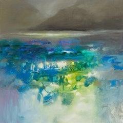 Fluid Dynamics - 21st Century, Contemporary Art, Abstract, Oil Acrylic Painting