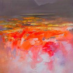Fluid Dynamics III, Scott Naismith, Fluorescent Art, Abstract Landscape Painting