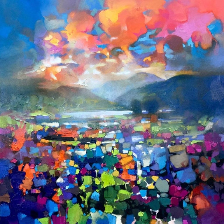 High Resonance Scottish Landscape Painting Colourful Contemporary Abstract Art