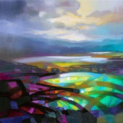 Highland Colour Collision - 21st Cent, Contemporary Art, Abstract, Spray Paint