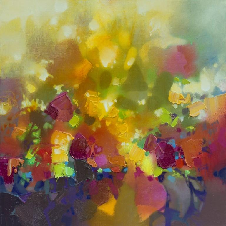 Scott Naismith Abstract Painting - Light Permeates - 21st Century, Contemporary Art, Abstract, Spray Paint, Oil