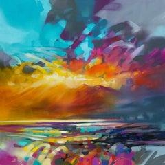 Lights Energy - 21st Century, Contemporary Art, Abstract, Oil, Spray Paint
