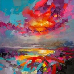 Neucleus - 21st Century, Contemporary Art, Abstract, Oil Painting, Spray Paint