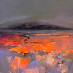 Submerged Study I, brightly coloured semi-abstract landscape