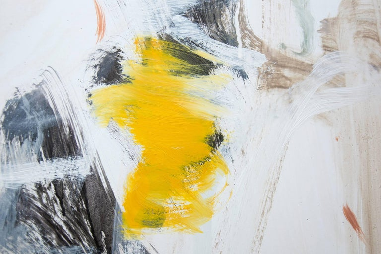 Denouement No 45 - large, bright, colourful, gestural, abstract, oil on canvas - Gray Abstract Painting by Scott Pattinson