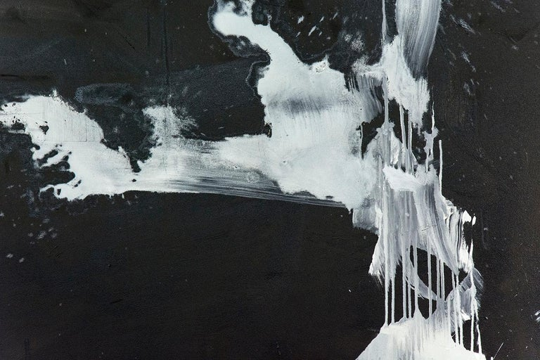 Hvodjra No 14 - Black Abstract Painting by Scott Pattinson