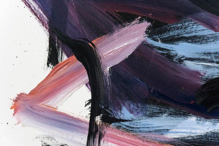 Hvodjra No 21 - Gray Abstract Painting by Scott Pattinson