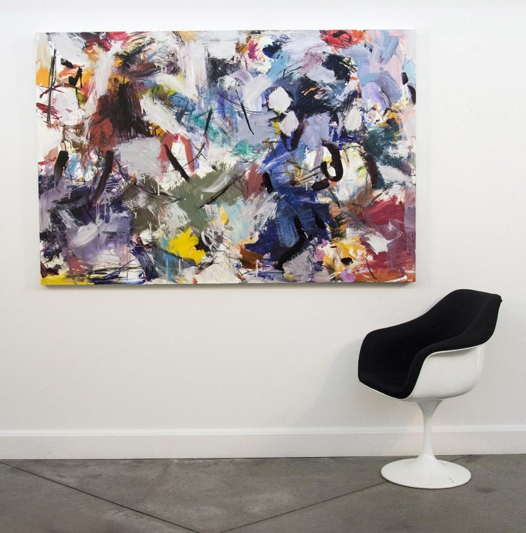 Ouvert No 11 - large, vibrant, colourful, gestural abstract, oil on canvas For Sale 2