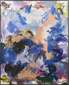 Ouvert No 15 - large, vibrant, colourful, gestural abstract, oil on canvas