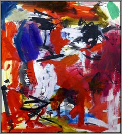 Ouvert No 39 - bold, vibrant, colorful and graphic abstract acrylic on canvas