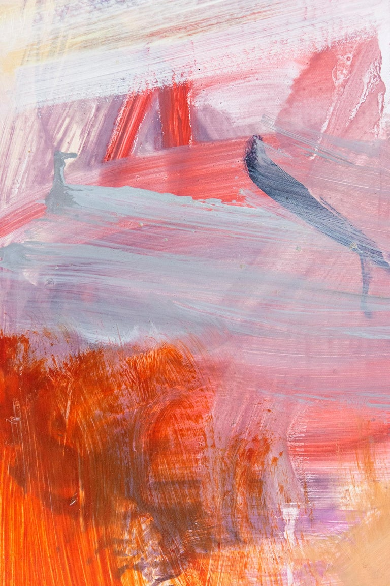 Ouvert No 75 - atmospheric square format abstraction in warm colors - Contemporary Painting by Scott Pattinson