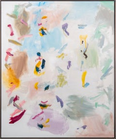 Platform - large, vibrant, colourful, gestural abstraction, oil on canvas
