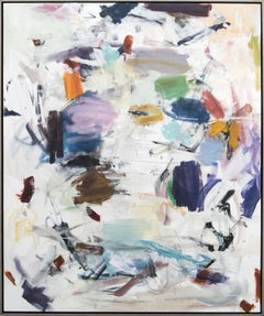 Retrace Surroundings - large, colourful, gestural abstraction, oil on canvas