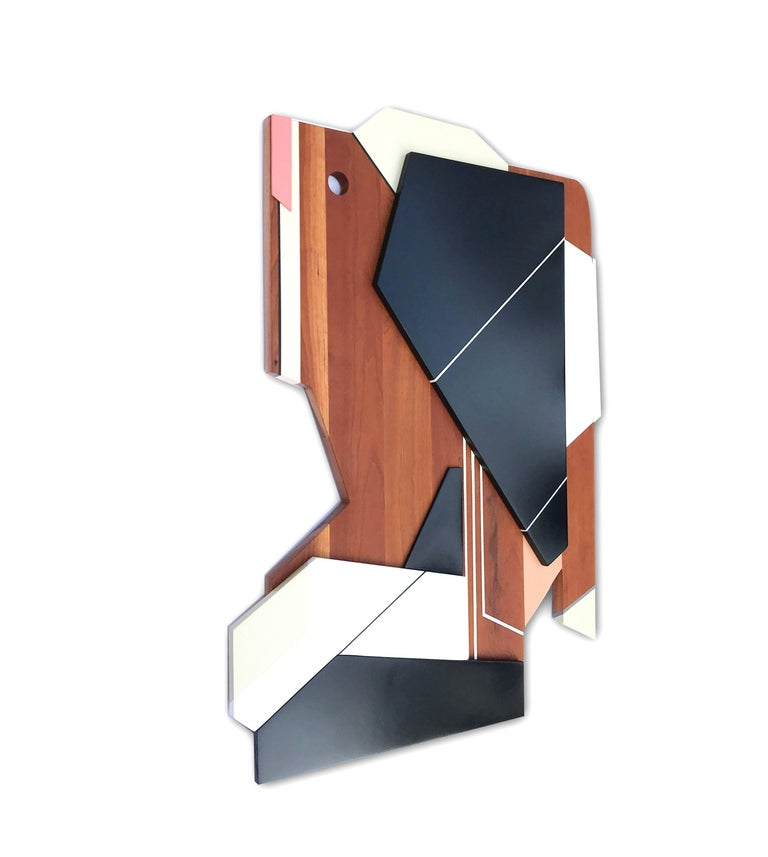 Apollo III (wood, modernism wall sculpture, abstract geometric, modern design) - Sculpture by Scott Troxel