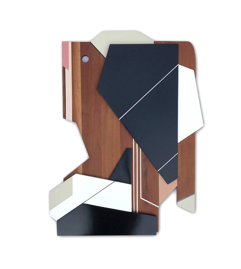 Scott Troxel Abstract Sculpture - Apollo III (wood, modernism wall sculpture, abstract geometric, modern design)