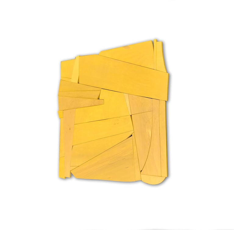 Cornflower is a discreet and elegant minimalist contemporary mixed media wall sculpture. It is constructed with high-end birch veneer, acrylic washes and completed with a hand waxed finish. The acrylic wash allows the wood grain to show through the