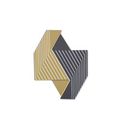 Oculus 8 (modern abstract wall sculpture minimal geometric design Frank Stella)