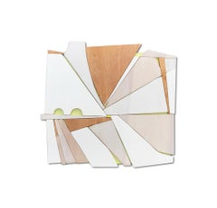 Citrus (offwhite monochrome natural wood sculpture minimal geometric art deco)