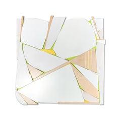 LOVE30 (white art deco monochrome natural wood sculpture minimal geometric)