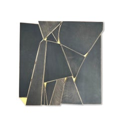 Outlier (charcoal monochrome anthracite wood sculpture minimal geometric artdeco