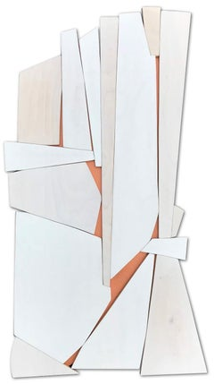 "Scott Troxel ""Cathedral"" Abstract Wood Wall Sculpture"