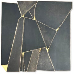"Scott Troxel ""Outlier"" Abstract Wood Wall Sculpture"