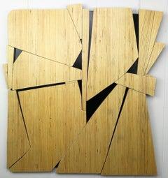 "Scott Troxel ""Phonecian"" Abstract Wood Wall Sculpture"