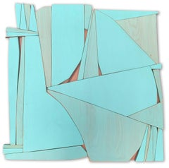 "Scott Troxel ""Tiki III"" Abstract Wood Wall Sculpture"